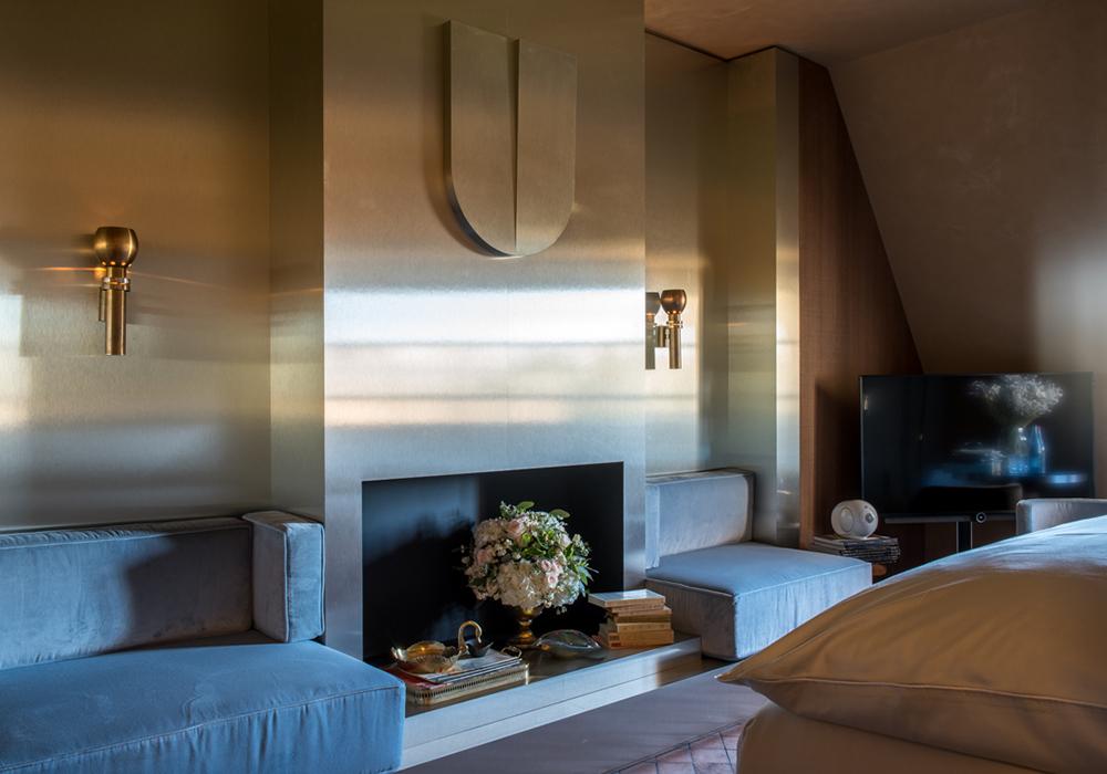 cheminee chambre deluxe hotel 5 etoiles paris